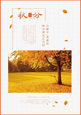 秋分二十四節氣海報