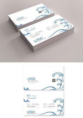 游泳俱乐部名片设计企业通用