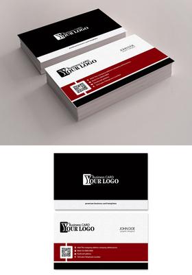 精美简洁名片设计模板PSD下载
