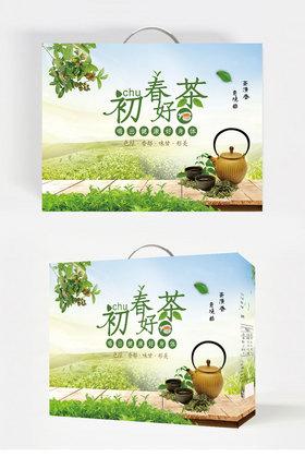 绿茶茶叶包装盒设计