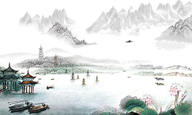 搜图123提供独家原创水墨画山水背景图下载,此素材图片已被下载2次,被图片
