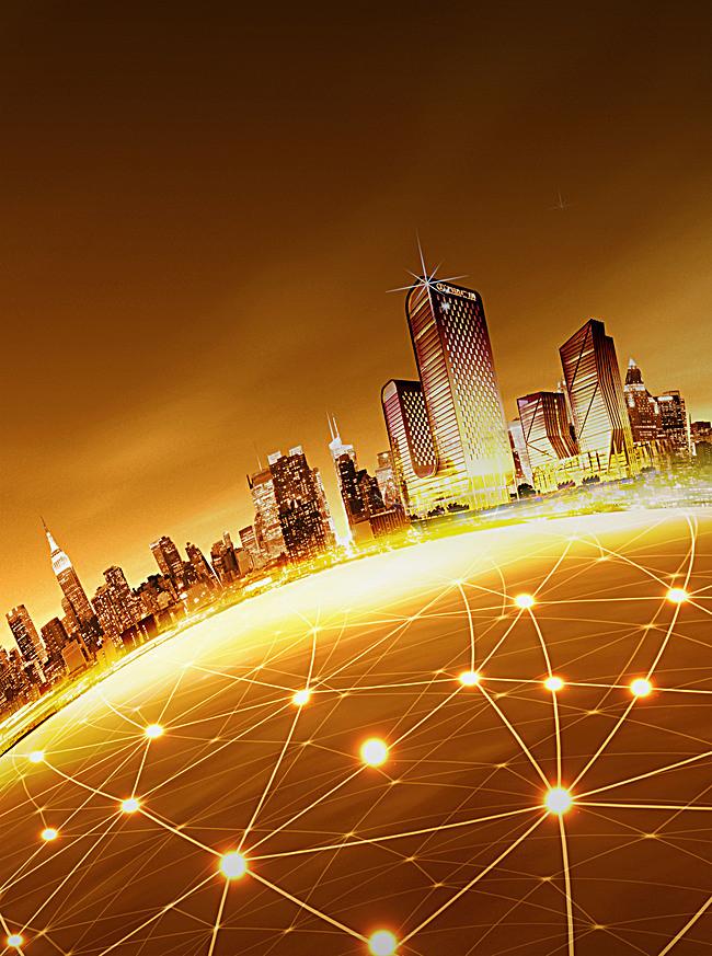 房地产  金色 背景 全国 商业 金融 海报 科技 科幻 商务图片
