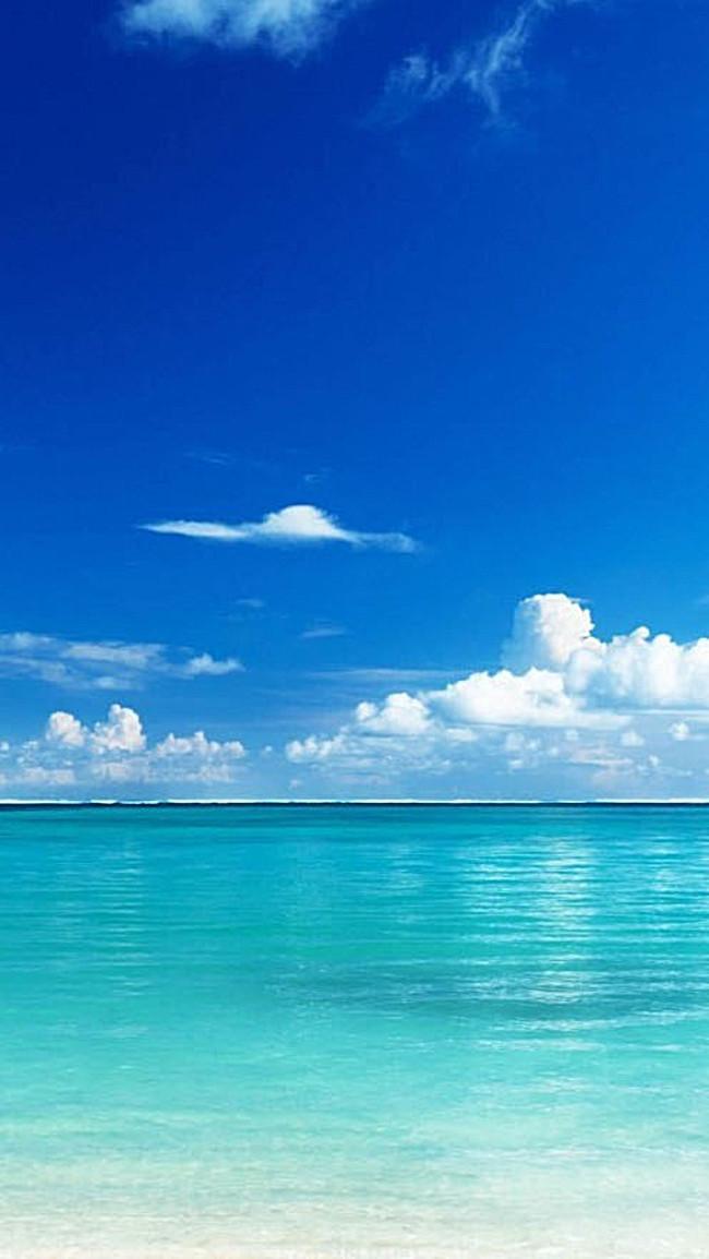 > 风景蓝天白云大海h5背景素材