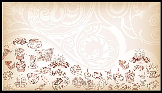 搜图123提供独家原创欧式手绘简约美食海报背景素材下载,此素材图片已图片