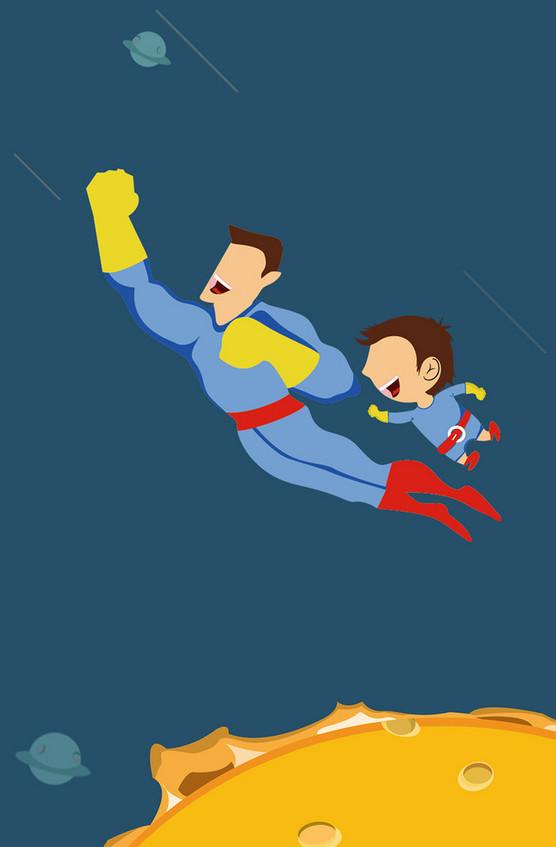 卡通超人背景