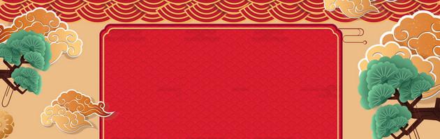 中秋节古典banner背景