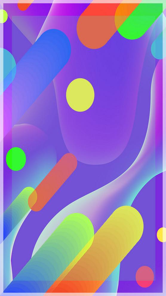 几何科技蓝色背景素材H5背景