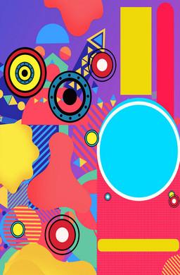 孟菲斯彩色几何其他广告海报H5背景