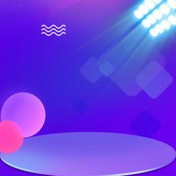 电商紫色渐变促销背景主图