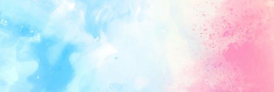 清新粉水彩渐变渲染展板背景