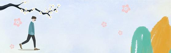 立冬天手绘banner