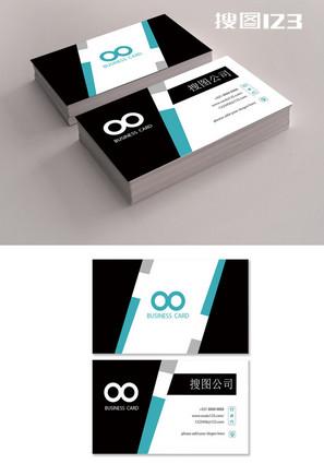 創意簡約黑色大氣名片設計