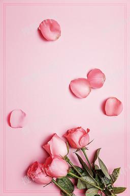 鲜花预订海报背景素材