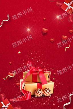 感恩节礼物海报背景