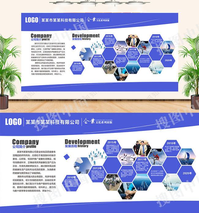 企业文化墙公司宣传企业宣传公司简介背景墙展板