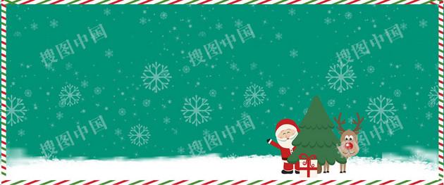 圣诞老人卡通雪花背景