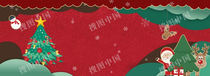 淘宝圣诞节海报banner背景图