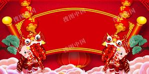 热闹春节中国风背景图