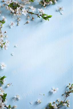 小清新蓝色情人节宣传海报