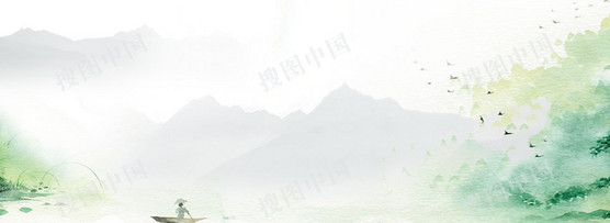 中國風小清新清明banner背景