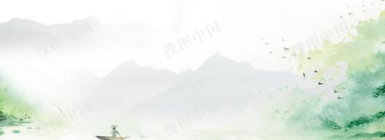 中国风小清新清明banner背景