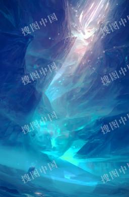 蓝色光效质感H5背景