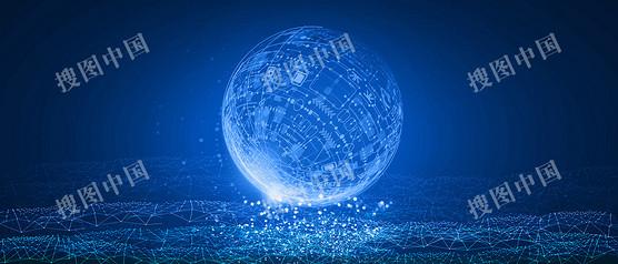 地球粒子科技背景
