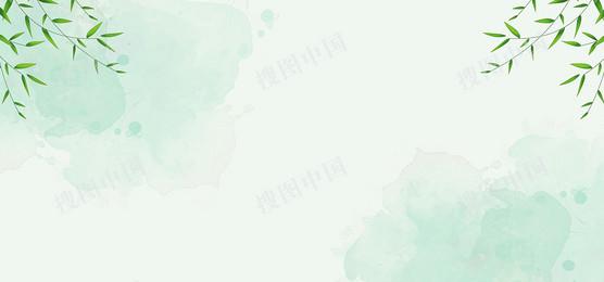 二十四节气谷雨简约清新banner
