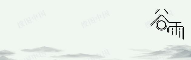 谷雨水墨中國風食品水墨山水banner