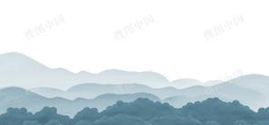 二十四节气谷雨中国风水墨banner