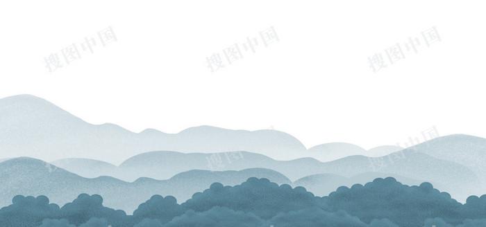 二十四節氣谷雨中國風水墨banner