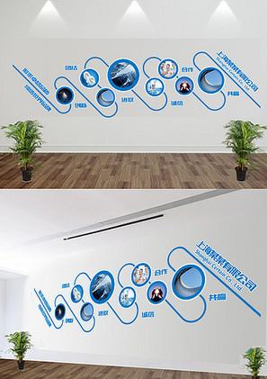 公司微立体文化墙照片墙展板