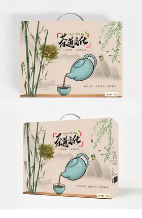 茶葉手提包裝圖片設計