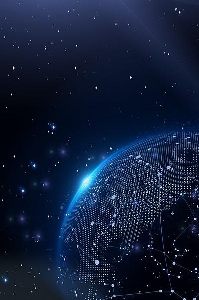 蓝色大气科技未来海报背景