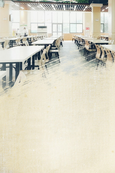 简约校园食堂文化挂画
