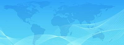 金融商务蓝色科技感地球新闻背景