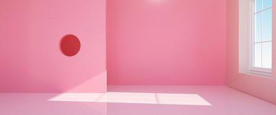 C4D粉红色立体空白背景