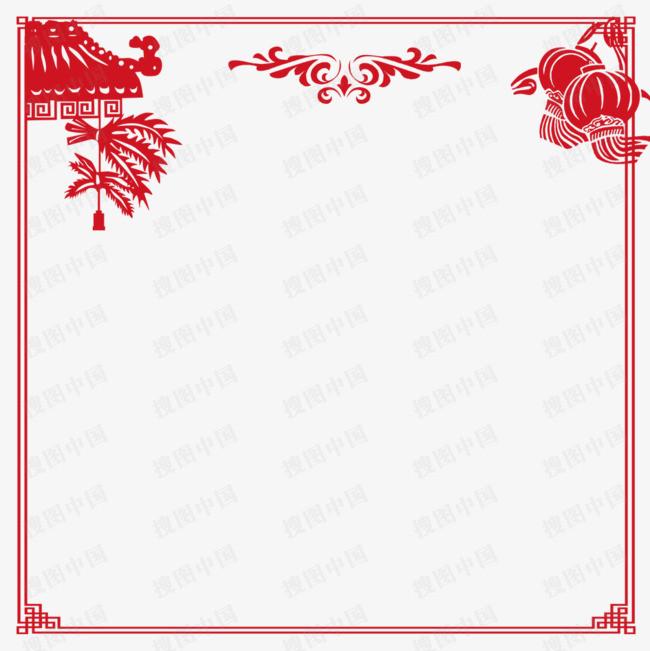 春节边框设计