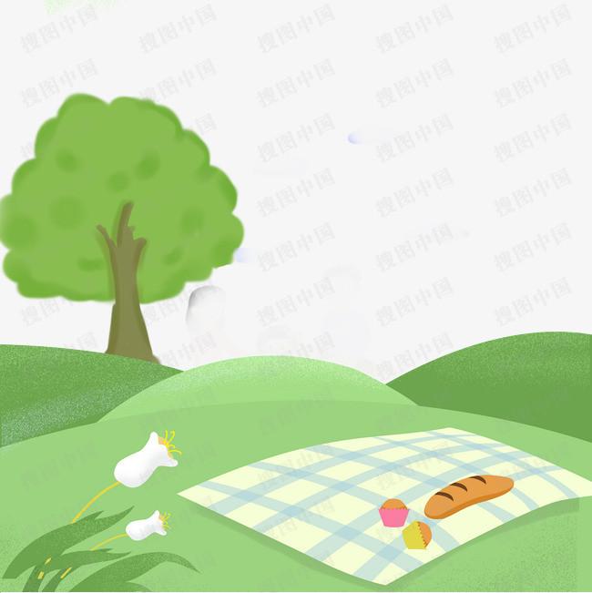 清明节踏青郊游绿色自然风光