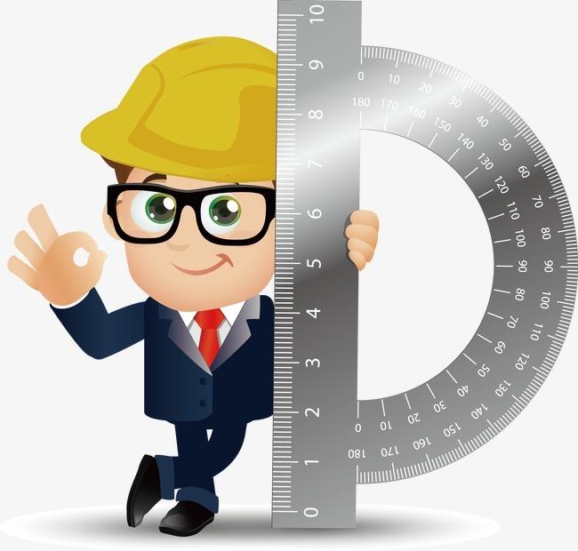 城市插画 工程师 建筑插画 建筑工人 头盔 安全帽 职业人物 职业男性图片