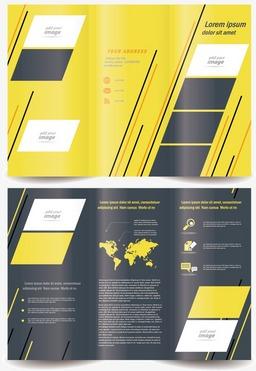 三折页画册设计矢量素材