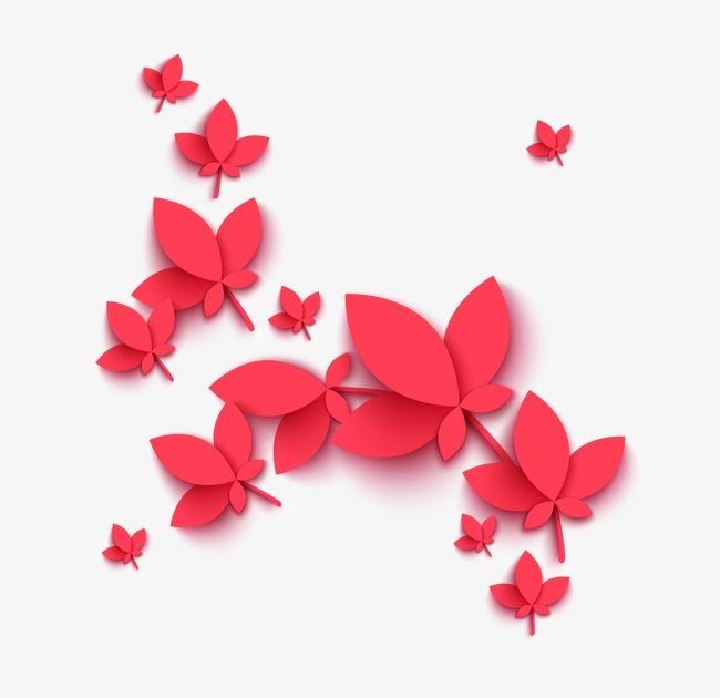 时尚创意中秋节海报花瓣元素