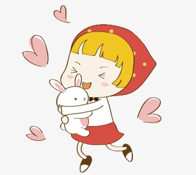 卡通小红帽女孩图片
