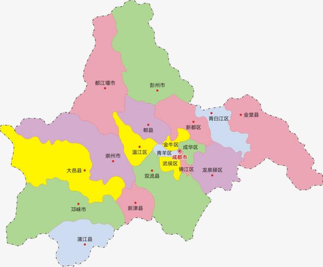 成都行政区地图图片