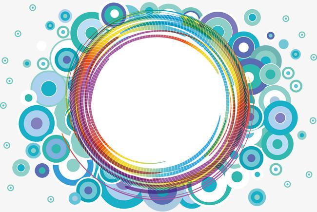 创意霓虹色彩圆形花纹