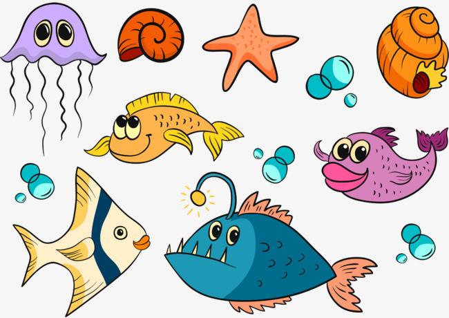海洋動物衣服圖片大全 海洋生物圖片兒童畫圖片