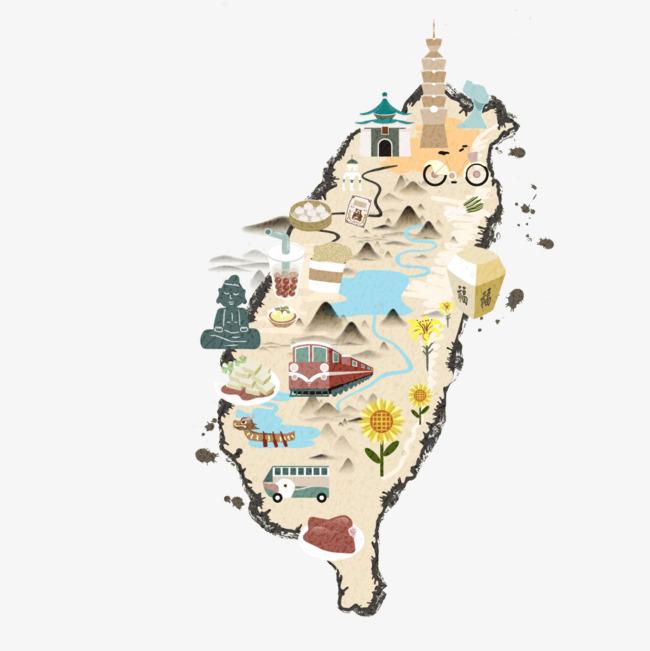 搜图123提供独家原创手绘台湾地图下载,此素材图片已被下载44次,被