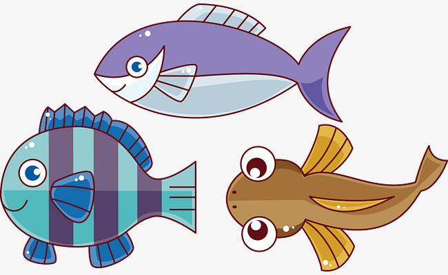 海洋生物 鱼儿 插画 儿童画 【本作品下载内容为: 卡通小鱼矢量图图片
