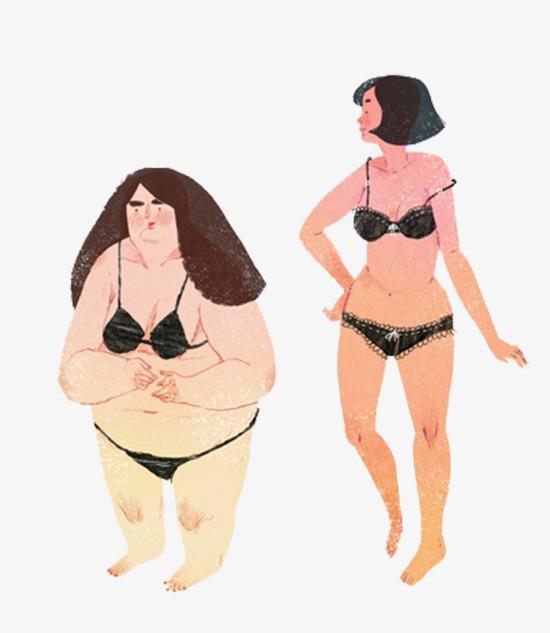 卡通胖子和瘦子图片