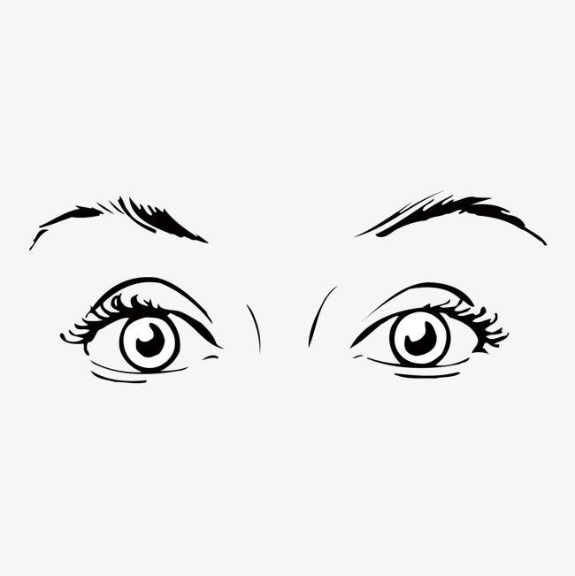 女子  眼眉  眼睛  手绘  人物  肖像  矢量  黑白图片